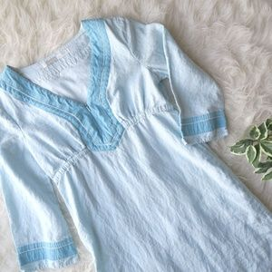 Athleta Casual Blue Linen Dress